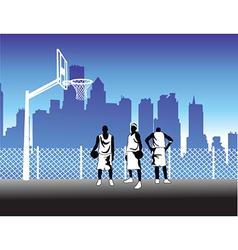 Basketballers vector image vector image