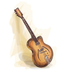 bass guitar watercolor style vector image vector image
