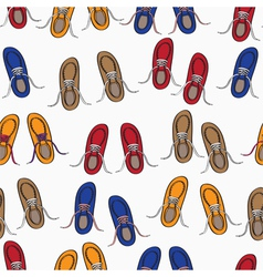 Colourful background pattern of shoes vector image
