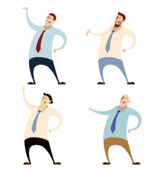 Set of office workers vector image