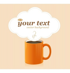 coffee cup with text vector image vector image