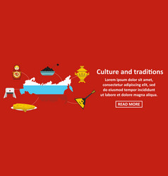 culture and traditions russia banner horizontal vector image