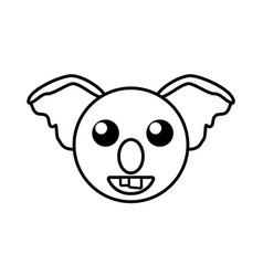 face koala animal outline vector image