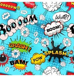 Seamless pattern comic speech bubbles illus vector image vector image