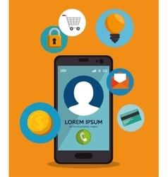 smartphone design social media icon vector image