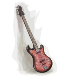 bass electric guitar vector image vector image