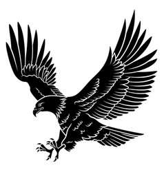 eagle silhouette 005 vector image