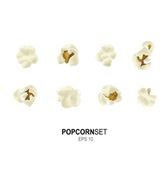 popcorn set vector image
