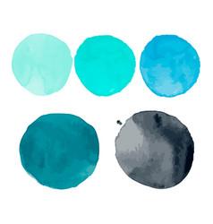 set of watercolor shapes watercolor blobs vector image
