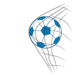 Soccer ball with net vector image vector image