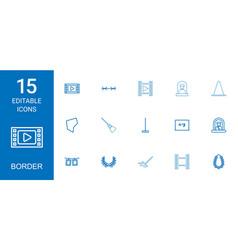 15 border icons vector image