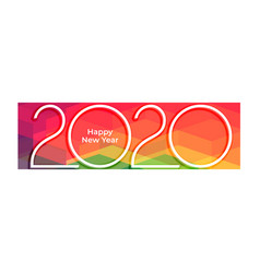 2020 style happy new year colorful background vector