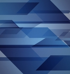 Abstract blue background with geometric shapes vector