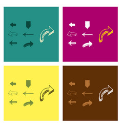 Arrows collection with elegant style and black vector