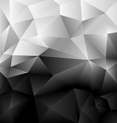 Background Abstract Polygon Black and white vector image