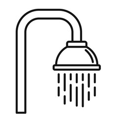 Bathroom shower icon outline style vector