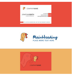 Beautiful turkey logo and business card vertical vector