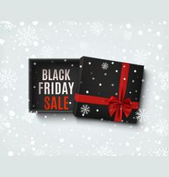Black friday sale design opened gift box vector