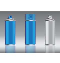 Blue spray can vector