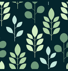 botanical seamless pattern whit leaves on on a vector image