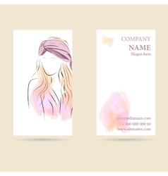 Business card vertical vector image