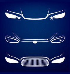 Car Headlights vector image