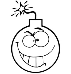 Cartoon bomb vector