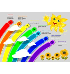 cartoon rainbow infographics vector image