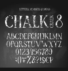 Chalk english alphabet vector