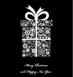 Christmas gift boxe from snowflakes vector image