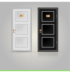 Closed doors vector