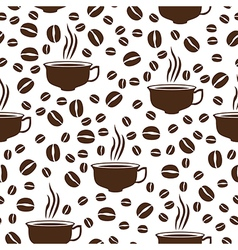 coffee cap pattern vector image