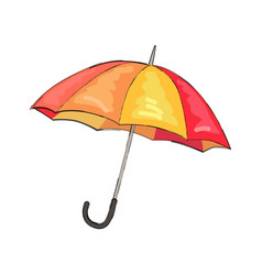 color umbrella icon isolated vector image