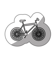 contour bicycle transportation image vector image