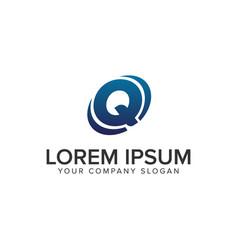 creative modern letter q logo design concept vector image