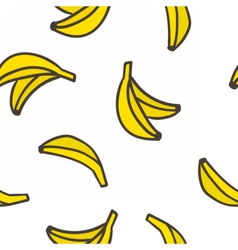 Cute hand drawn bananas on a white background vector