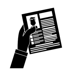 Cv or resume related icons image vector