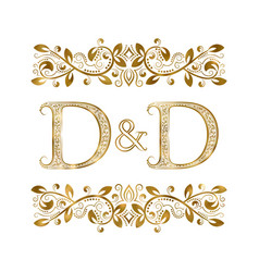 d and d vintage initials logo symbol the letters vector image