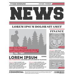 Daily news tabloid template vector