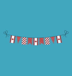 Decorations bunting flags for canada national day vector