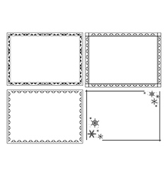 decorative ornamental frames - set vector image