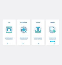 delivery financial security line concept ux ui vector image