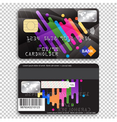 Detailed glossy credit card isolated on background vector