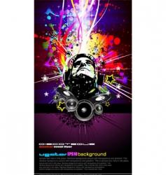 DJ disco flyer vector image vector image