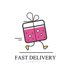 fast delivery logo design creative template for vector image
