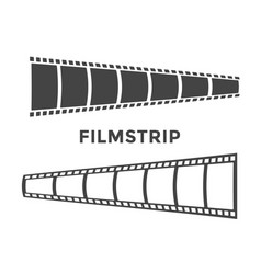 filmstrip graphic design template isolated vector image