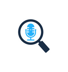 find podcast logo icon design vector image