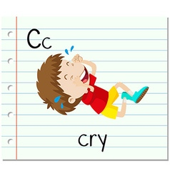 Flashcard letter C is for cry vector image