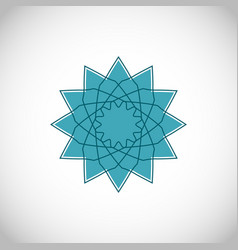 geometrical ornament ornamental isolated vector image