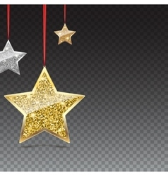 Glitter Background with Silver and Gold Hanging vector